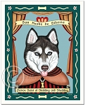 P-247 - 8x10 Art Print - Saint Siberian Husky - Blue Eyes