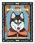 P-248 - 8x10 Art Print - Saint Siberian Husky - Brown Eyes