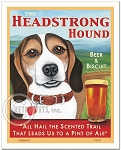 PB-107 - 8x10 Art Print - Beagle Headstrong, Tri-color - Scenic