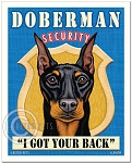 SE-102 - 8x10 Art Print - Doberman Security