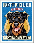 SE-103 - 8x10 Art Print - Rottweiler Security