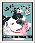 T-103 - 8x10 Art Print - Love Monster Black & White