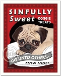 T-113 - 8x10 Art Print - Sinfully Sweet Pug