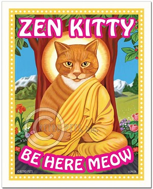 F-108 - 8x10 Art Print - Zen Kitty