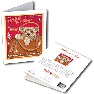 GCHP-105  Greeting Card 6-Pack - Yorkie in a Bag