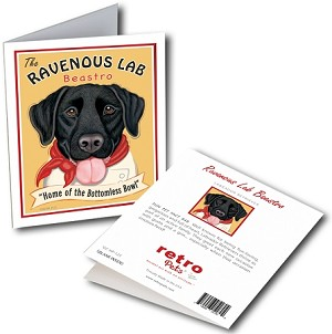 GCHP-125  Greeting Card 6-Pack - Ravenous Lab Black