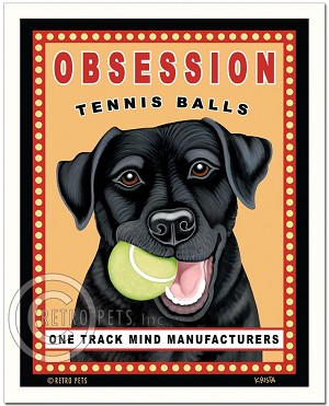 HP-109 - 8x10 Art Print - Obsession Tennis, Black