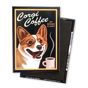 mc 113 magnet 4 pack corgi coffee