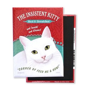 MF-105  Magnet 4-pack - Insistent Kitty