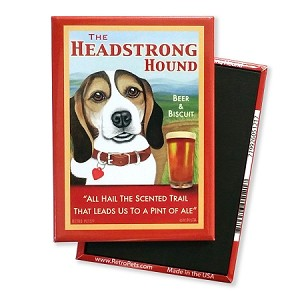 MPB-107  Magnet 4-pack - Headstrong Beagle