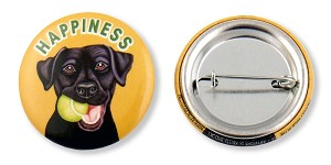 OHP-109 - Buttons - Happiness Black Lab  10-pack