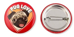 OHP-132 - Buttons - Pug Love 10-pack