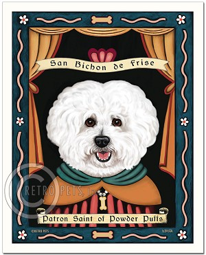 P-211 - 8x10 Art Print - Saint Bichon - Powder Puffs