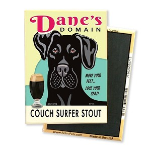 MB-128  Magnet 4-pack - Dane's Domain, Great Dane, Black